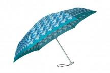 SAMSONITE Deštník Alu pattern skládací mechanický modrý kostkovaný