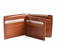 Bright Pánská peněženka kožená na hodně dokladů na šířku hnědá