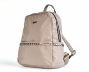 Bright Dámský batoh A5 látkový s křížky a kapsami béžový