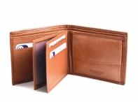 Bright Pánská peněženka kožená vybavená na šířku hnědá