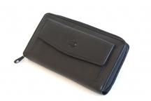 FAMITO Dámská peněženka Cosset na šířku kožená na zip černá