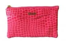 BRIGHT dámská peněženka nebo kabelka kroko-lak růžová