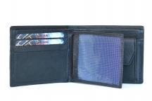 Pánská kožená peněženka na vybavená šířku černá