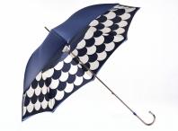 """Pasotti Luxusní dámský deštník holový """"Šupiny"""" mechanický modrý"""