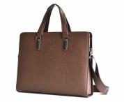 Bright Elegantní taška na notebook A4 hladká hnědá