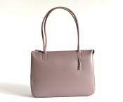 Bright Elegantní kožená kabelka A4 klasická jednoduchá béžová