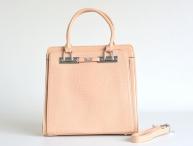 Bright Elegantní kabelka na dokumenty A4 na výšku do ruky béžová