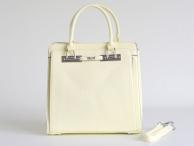 Bright Elegantní kabelka na dokumenty A4 na výšku do ruky smetanová
