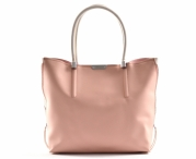 Bright Fashion kabelka a kapsa 2v1 syntetická A4 růžovo-bílá