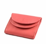 Bright Dámská mini peněženka kožená dvojitá růžová