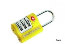 SAMSONITE Zámeček kódový US AIR 3 DIAL COMBINATION LOCK žlutý