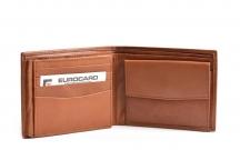 Bright Pánská peněženka kožená klasická na šířku hnědá