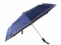 Bright Deštník skládací vystřelovací deštník s lemem modro-žlutý