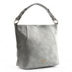 Bright Fashion dámská kabelka A4 přes rameno hladká sv. šedá