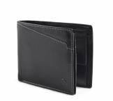 Bright Pánská peněženka kožená vybavená na šířku prošívaná černá