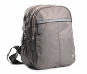 Bright Dámský batoh se 2 zipy a bočními kapsami větší A5 šedý