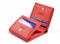 Coveri Dámská peněženka kožená malá na peníze a karty červená