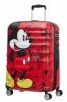 AT Dětský kufr Wavebreaker Disney Spinner 67/26 Mickey Comics Red