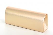 Klasická společenská kabelka (psaníčko) hladká s řetízkem růžovo-zlatá