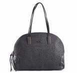 Bright Elegantní kabelka s kamínky oblá větší A5 černá