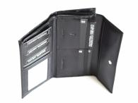 Valentini Dámská peněženka na šířku s velkým zipem kožená černá