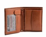 Bright Pánská peněženka kožená na hodně dokladů na výšku hnědá