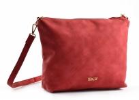Bright Elegantní dámská kapsa větší A5 přes rameno hladká červená