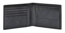 SAMSONITE Peněženka pánská SUCCESS na šířku kožená jednoduchá černá