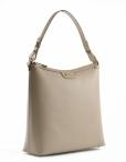 Bright Elegantní dámská kabelka menší A4 kožená béžová