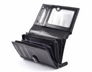 Valentini Dámská peněženka na výšku vybavená na karty a mince černá