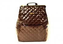 BRIGHT Dámský batoh přes ramena formát A5 prošívaný čokoládový