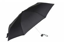 Bright Deštník skládací mechanický deštník Unisex černý