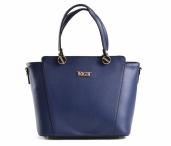 Bright Elagantní kabelka dámská větší A5 do ruky modrá