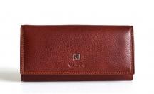 Valentini Dámská peněženka kožená na šířku s rámečkem na mince hnědá