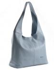 Bright fashion kabelka/vak kožená A4 sv. modrá