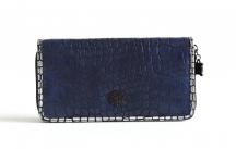 LAURA BIAGIOTTI Krásná dámská peněženka na šířku vybavená modrá