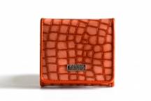 Coveri Dámská peněženka menší imitace kroko kožená oranžová