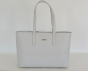 BRIGHT Elegantní kabelka kožená A4 na dokumenty slonovinová