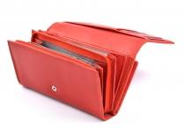 Coveri Dámská peněženka kožená vybavená na šířku červená