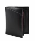 Bright Pánská peněženka kožená vybavená na výšku prošívaná černá