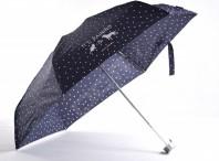 SAMSONITE Deštník Alu pattern skládací mech. super mini kapky modrý