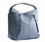Bright Dámská kabelka A4 přes rameno s cvočky modrá