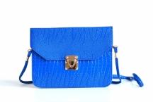 Bright Kabelka-kapsa malá syntetická laková královská modrá