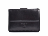Valentini Dámská peněženka na výšku kožená se kapsou na drobné černá