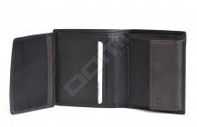 Samsonite pánská peněženka kož. NYX 3 na výšku vybavená černo-hnědá