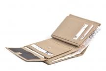 Bright Pánská peněženka kožená vybavená bez zapínání béžová
