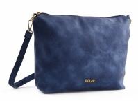 Bright Elegantní dámská kapsa větší A5 přes rameno hladká modrá