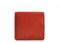 Bright Peněženka/pouzdro na mince kožené čtverec červené