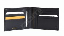 Samsonite pánská peněženka kožená OUTLINE na šířku bez drobných černá