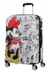 AT Dětský kufr Wavebreaker Disney Spinner 67/26 Minnie Comics White